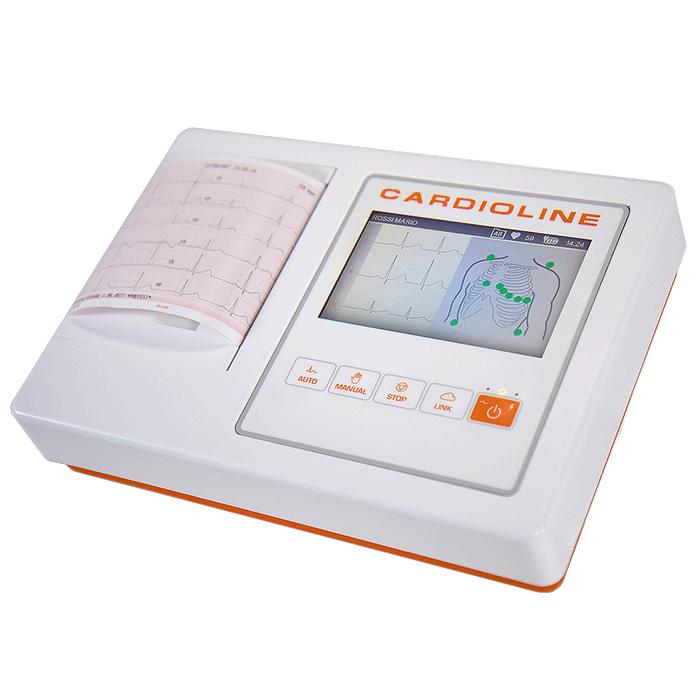 ЭЛЕКТРОКАРДИОГРАФ шестиканальный CARDIOLINE ECG 100L с интерпретацией