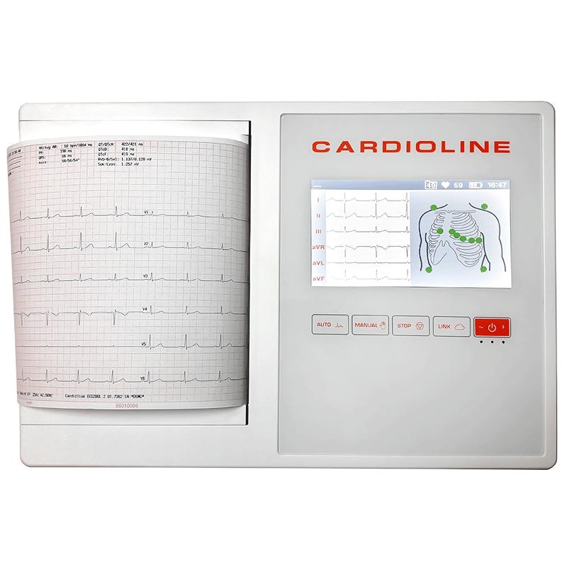ЭЛЕКТРОКАРДИОГРАФ 12-ти канальный CARDIOLINE ECG 200L с интепретацией